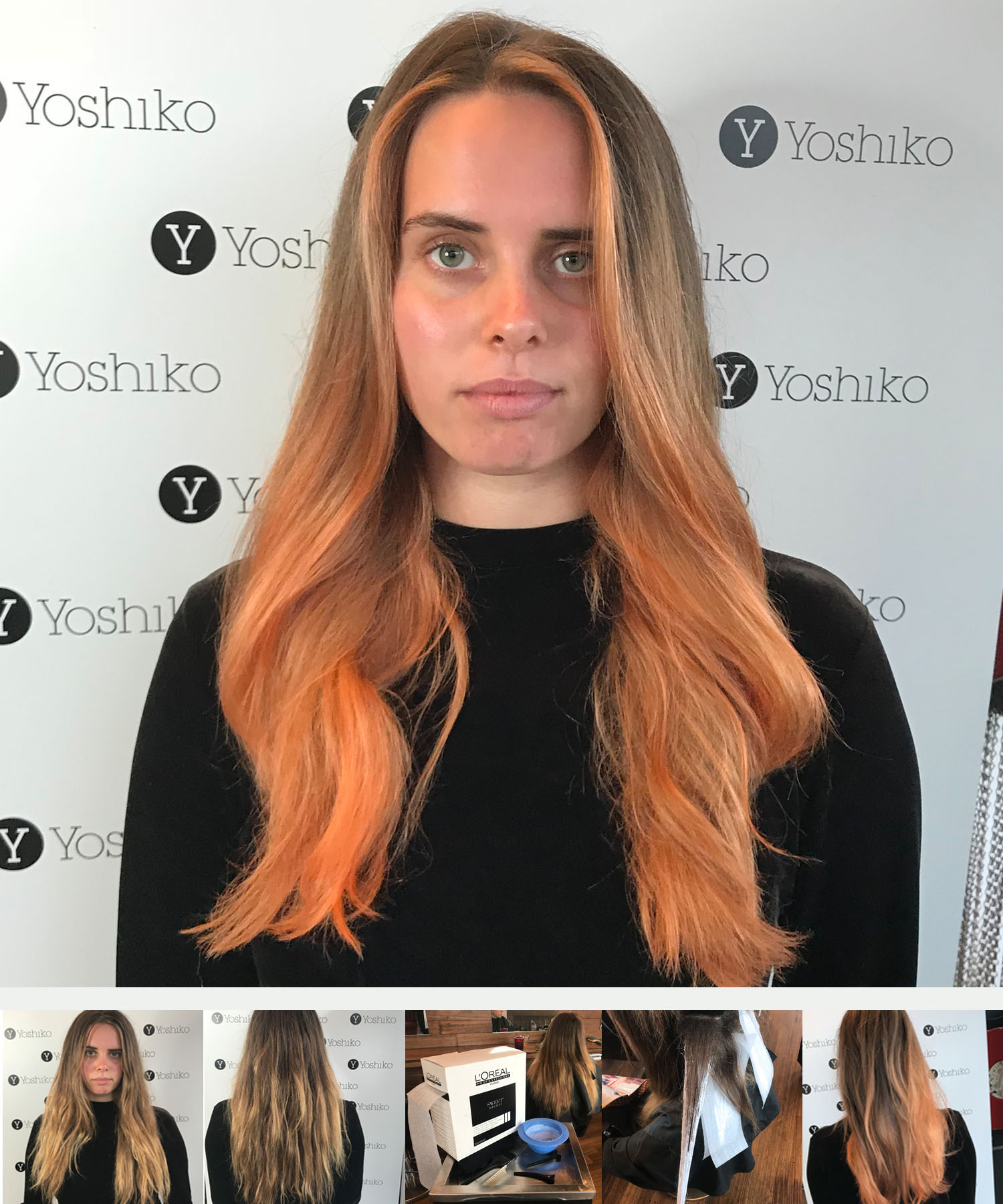 peach colour balayage_hair colour tendsmelbourne_st kilda hairdresser