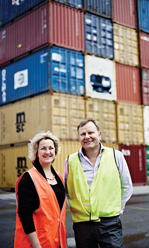 Dr Hermoine Parsons - Director Institute for Supply Chain and Logistics & Mr Peter Van Duyn