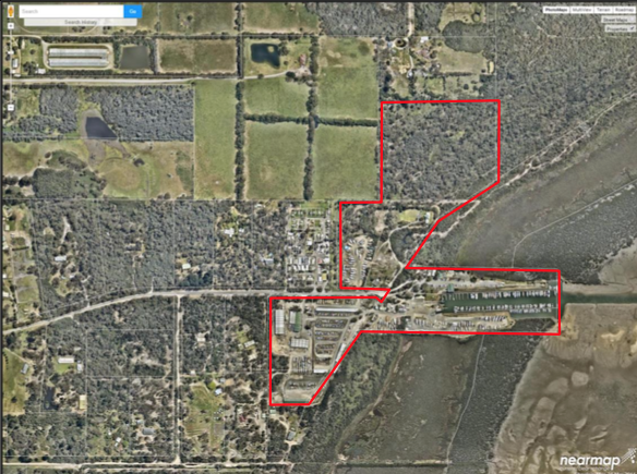 Arial Photo of Proposed development area