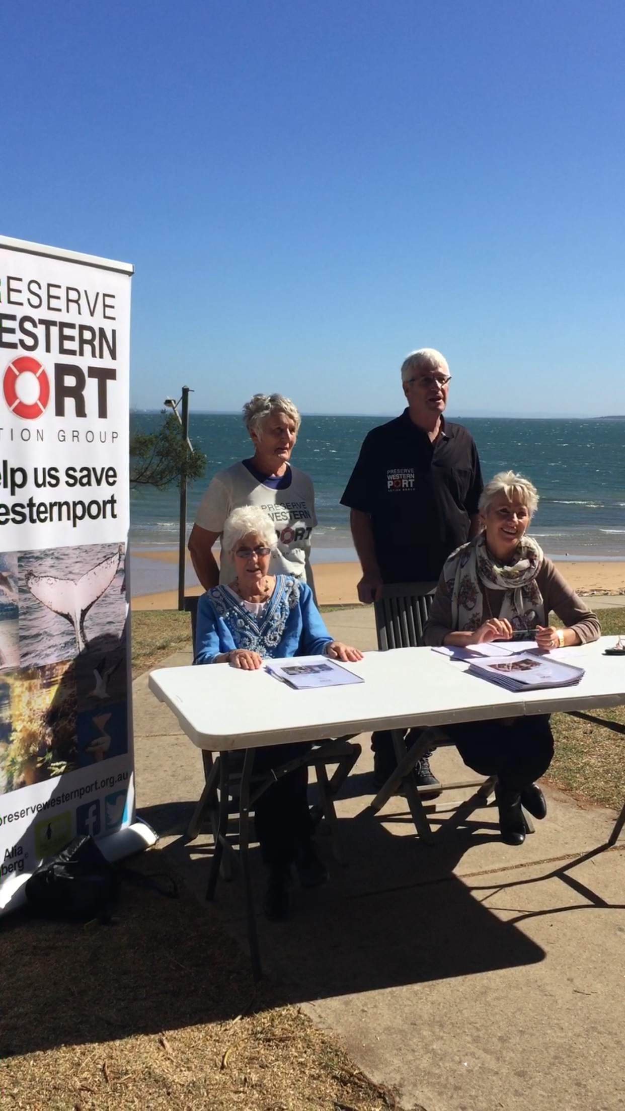 Anne Davie - President - Phillip Island Conservation Society, Jeff Nottle - Chairman - Preserve Westernport Action Group, Phyllis Papps - Author, Pamela Rothfield - Bass Coast Shire Mayor