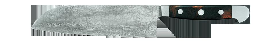Wild Damascus Santoku 18cm Chef's Knife