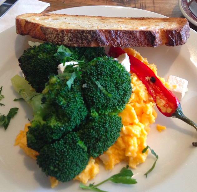 Slow baked broccoli, creamy scrambled eggs with roasted chilli and Danish feta. Love a good breakfast. Sydney is spectacular this morning. Sunshine galore! Can't peel myself off the grass to get moving. Sunday is for friends & family, the newspaper and gratitude for how rich your life is xx