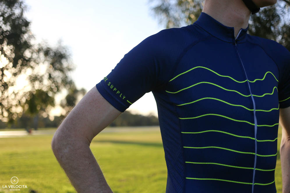 The fluro yellow on dark blue is a winning colour combo.
