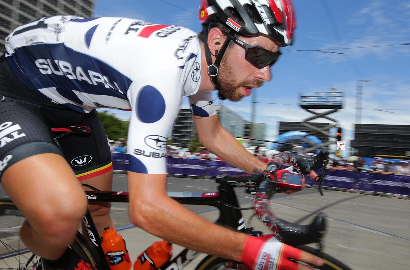 Subaru King of the Mountain winner Thomas De Gent (Lotto-Soudal)
