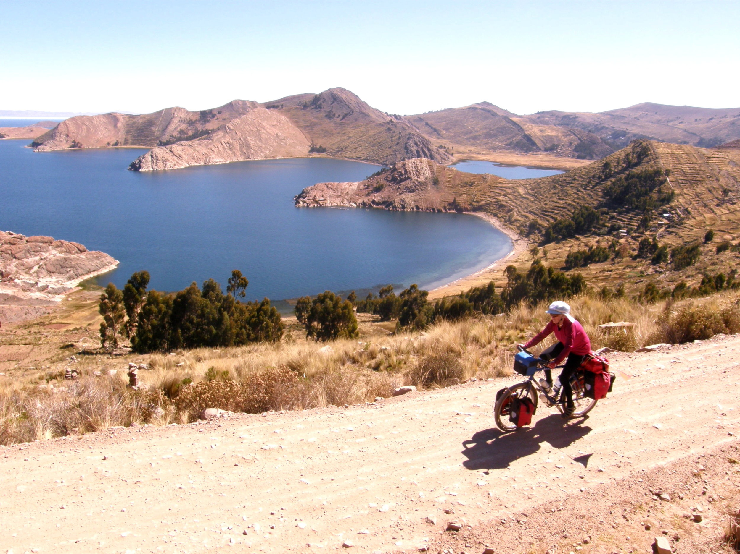 Cycle Touring East side of Lake Titicaca, Bolivia, South America