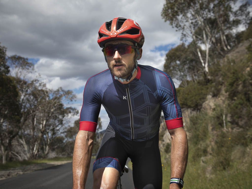 Nathan modelling some of the Katusha Sports apparel range. Photo by Laura Fletcher @pelotonbrief