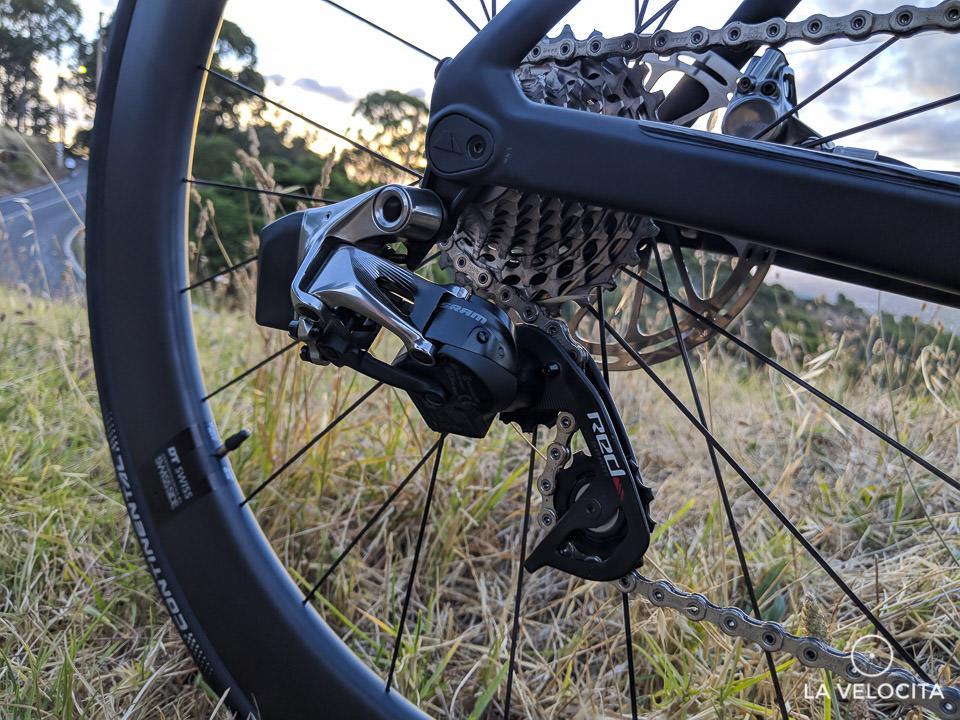 Gotta love the lack of shifting/battery cables of SRAM's eTap HRD