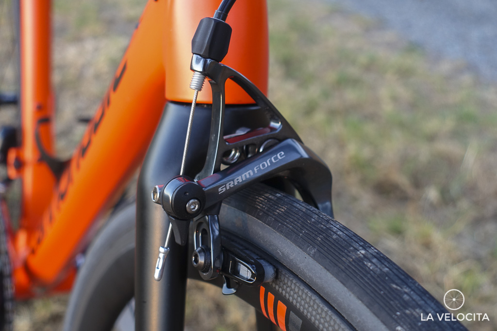 The SRAM Force calipers aren't the groupset's strongest point.