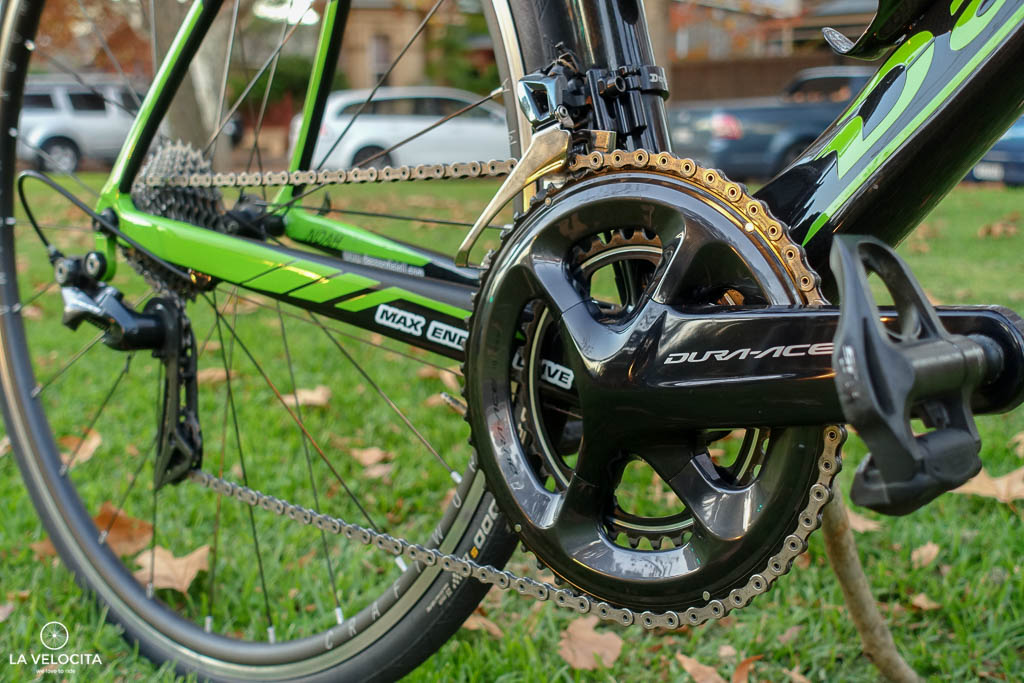 Shimano's Dura-Ace R9100 was a great match to the racing frame