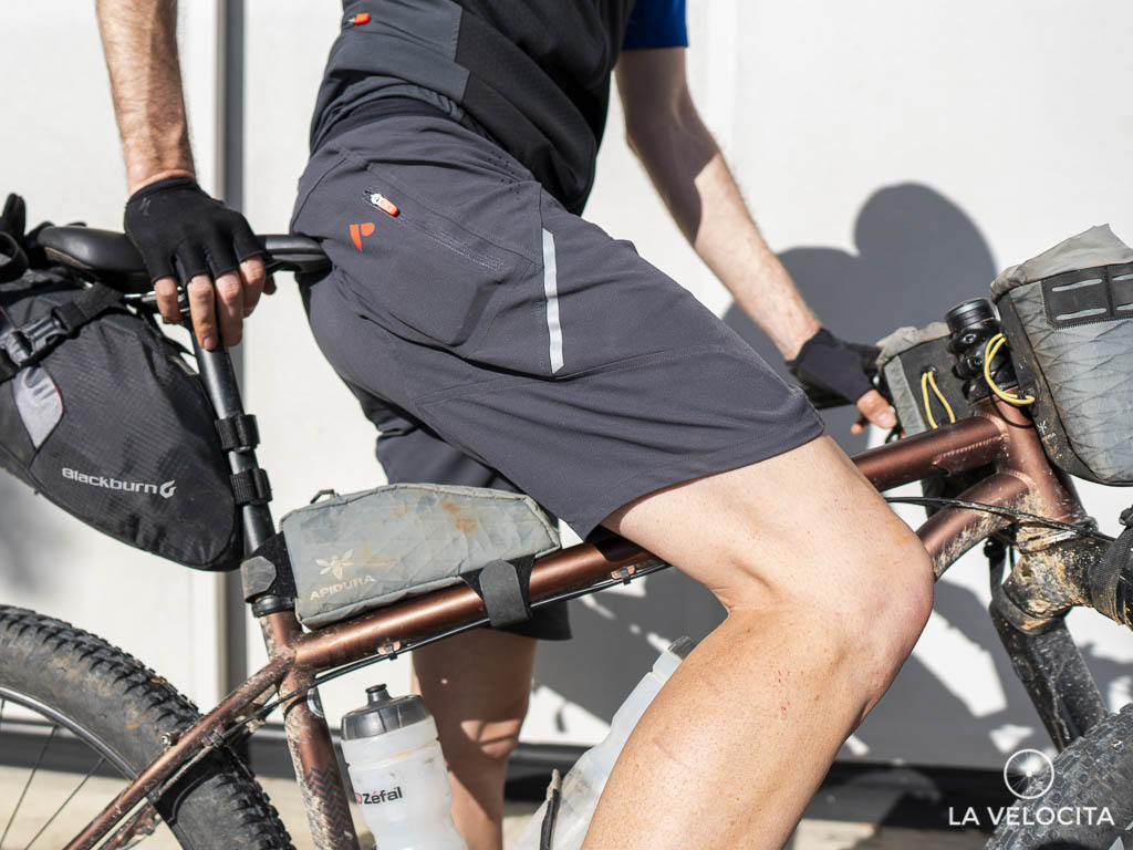 The single leg pocket is the only storage option on the shorts