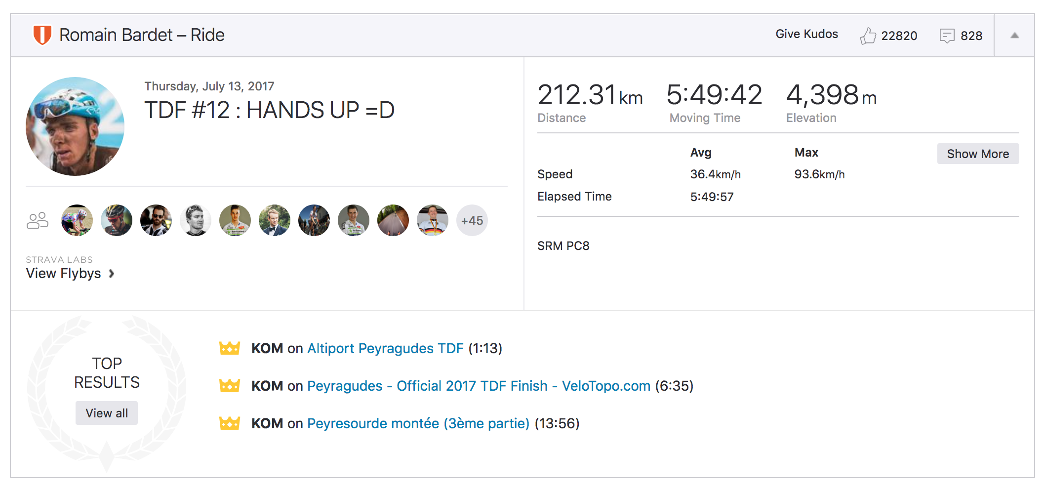 I'm guessing he's turned Strava notifications off…