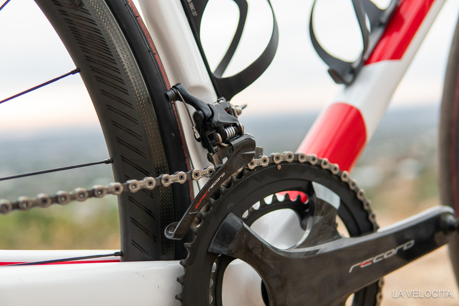Here's the front derailleur on the other TIME I rode because I didn't get a great shot with the disc set!