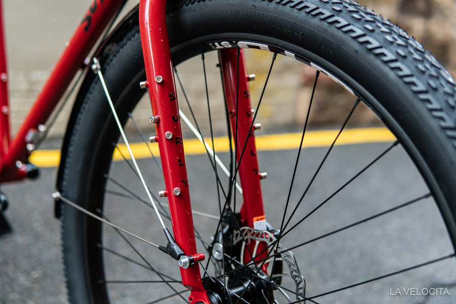 There's not much you can't mount on this Surly Ogre fork