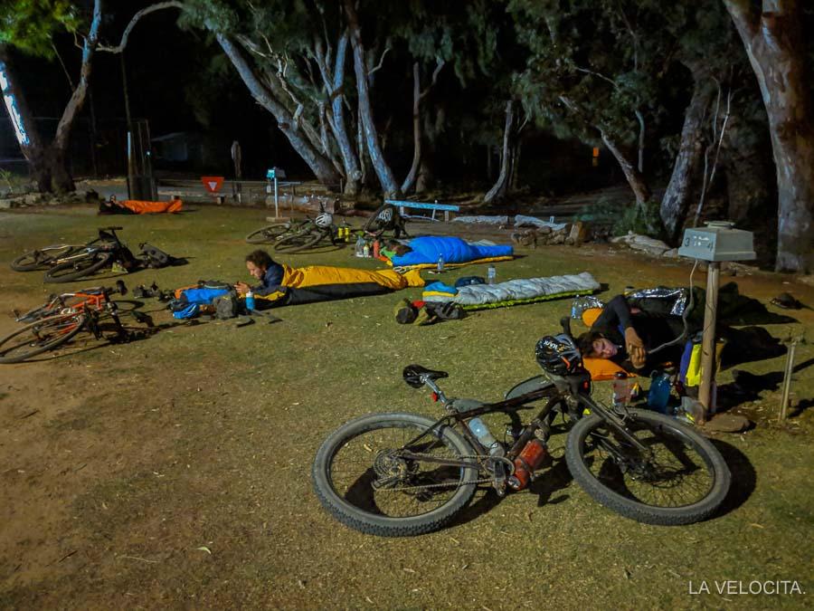 An adventure biking shanty town we made