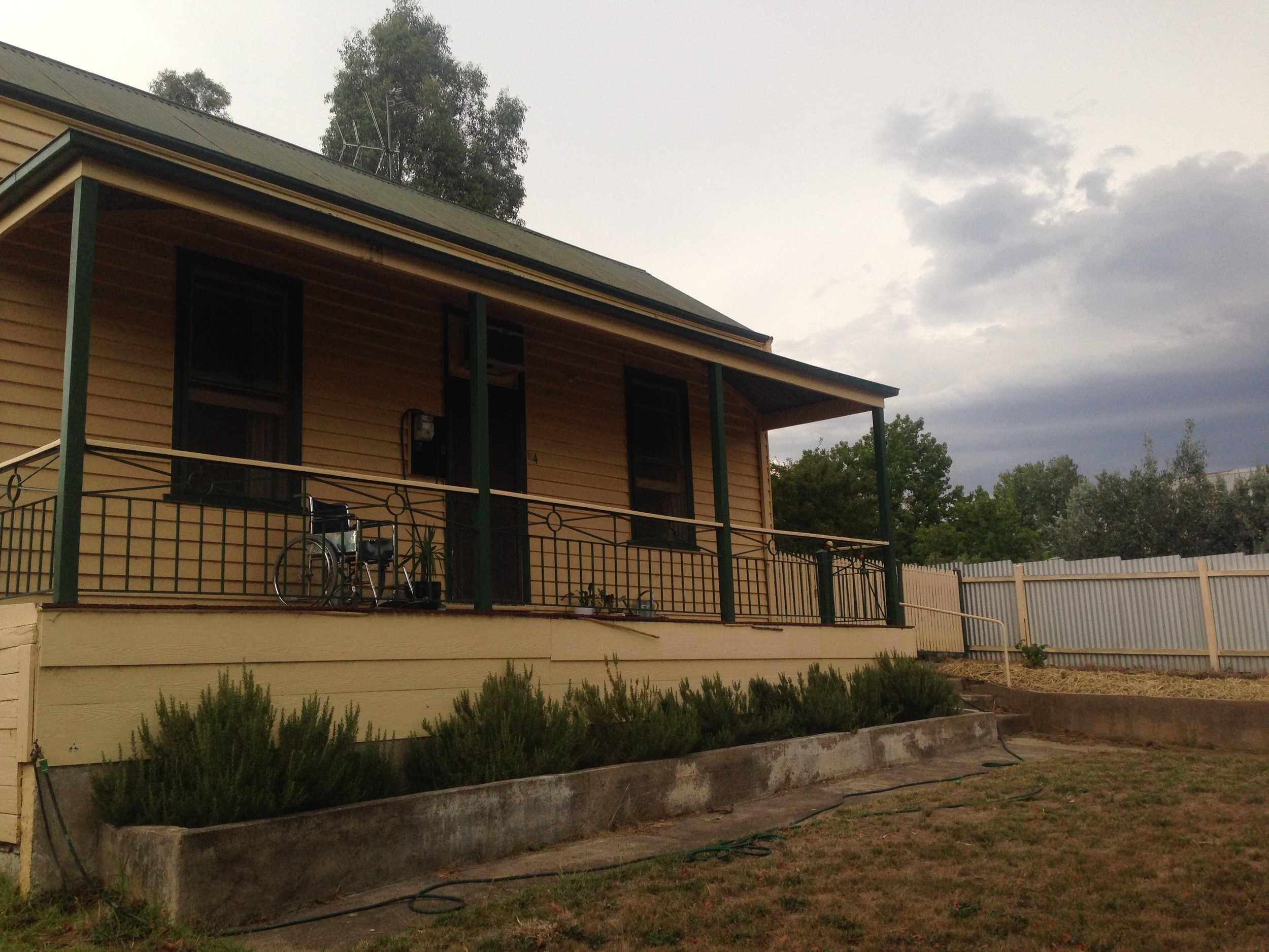 Ryan's house in Castlemaine.