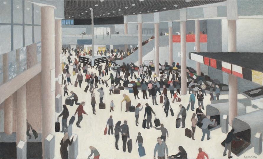 Robert Brownhall created Airport Figures during his Brisbane Airport residency