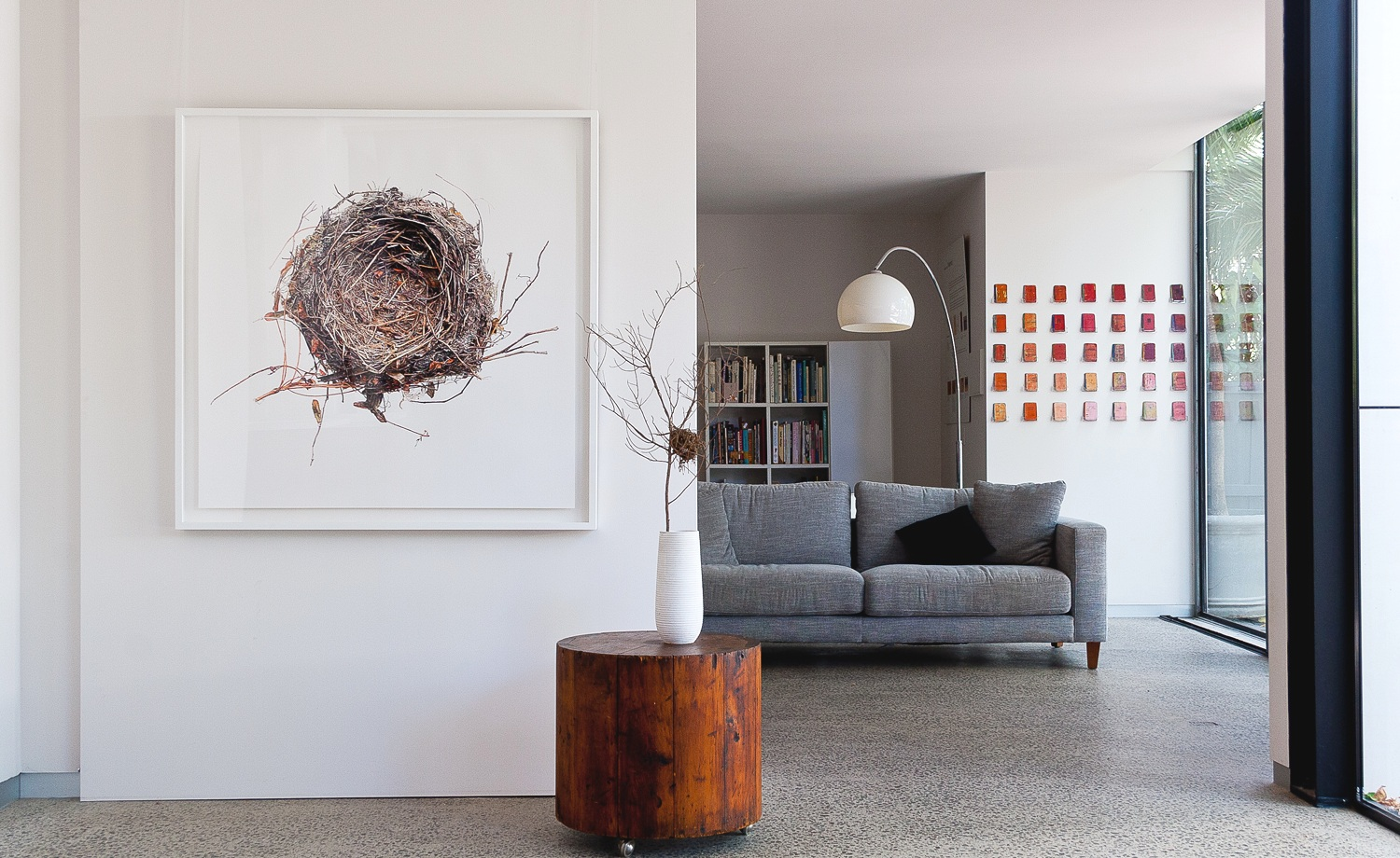 George Alamidis - Fine art print. Framed.120cm x 120cmThe magnified image of a found nest attempts to bring the viewer closer to the complexity of its architecture, in order to appreciate the energy invested in the creation of a home.$1500