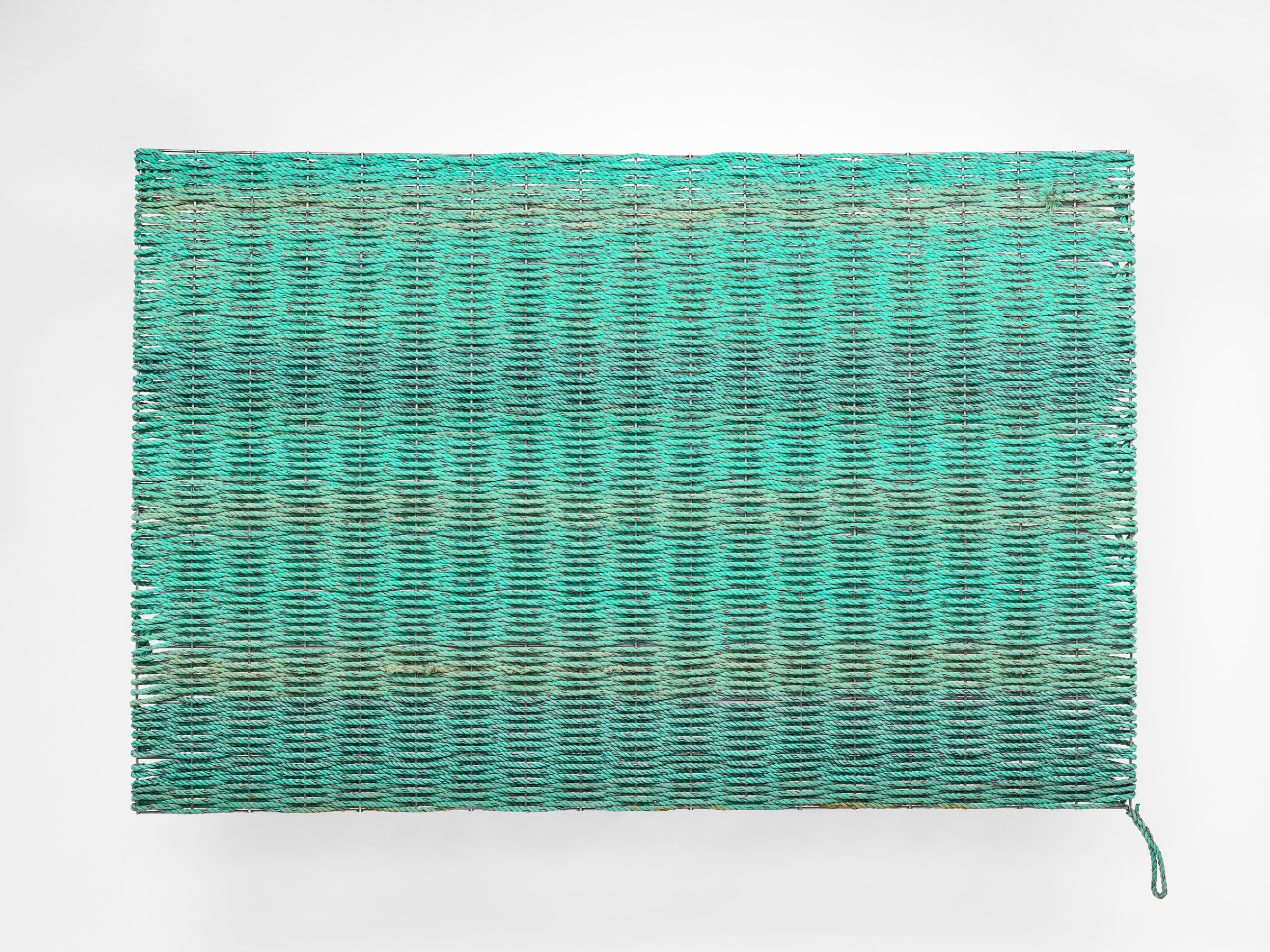 Bluish Green   2016  Weld mesh & discarded lobster rope  120 x 180 x 3cm  photographer Grant Hancock