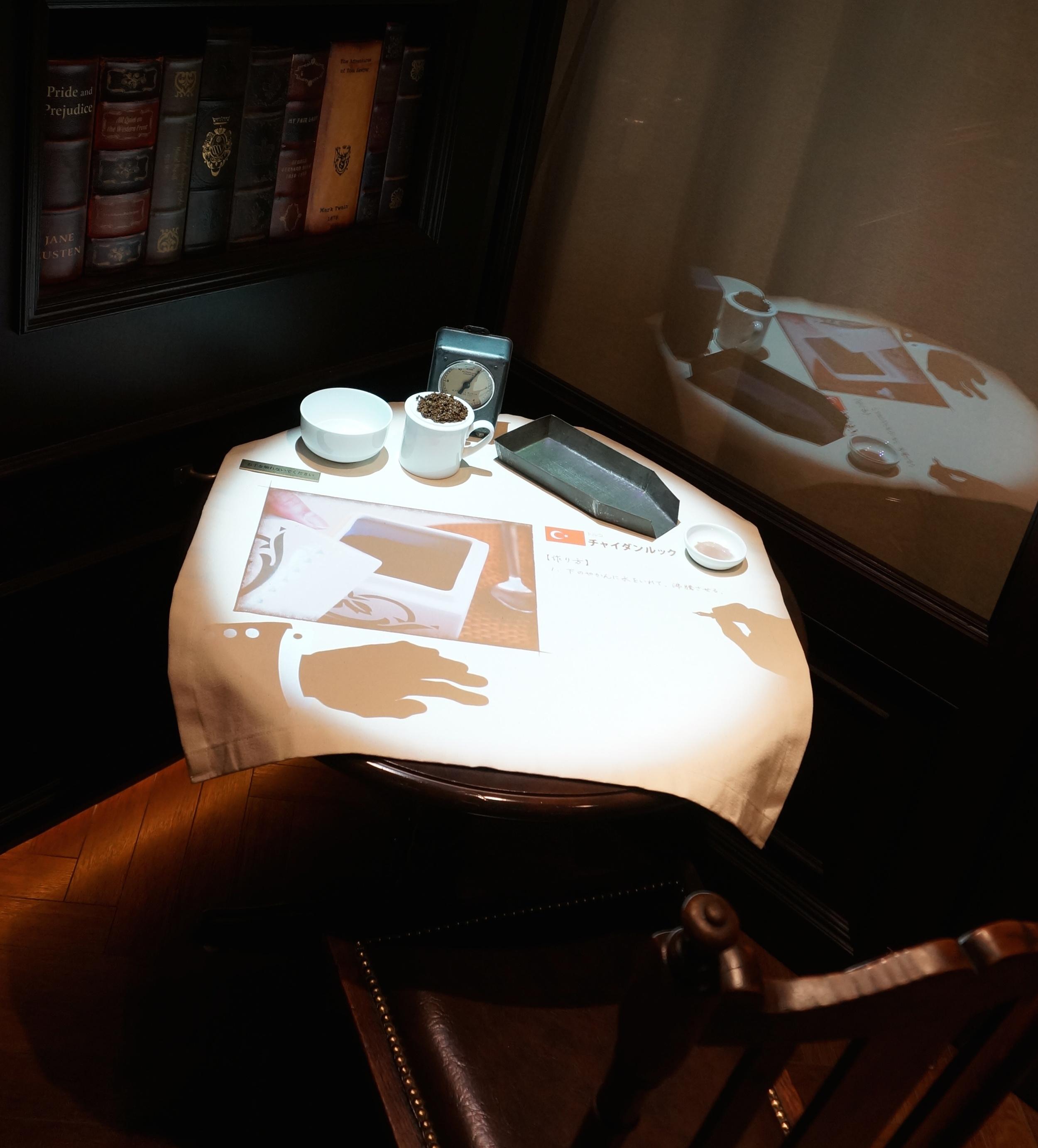 3. 紅茶の楽しみ方を伝えるテーブル