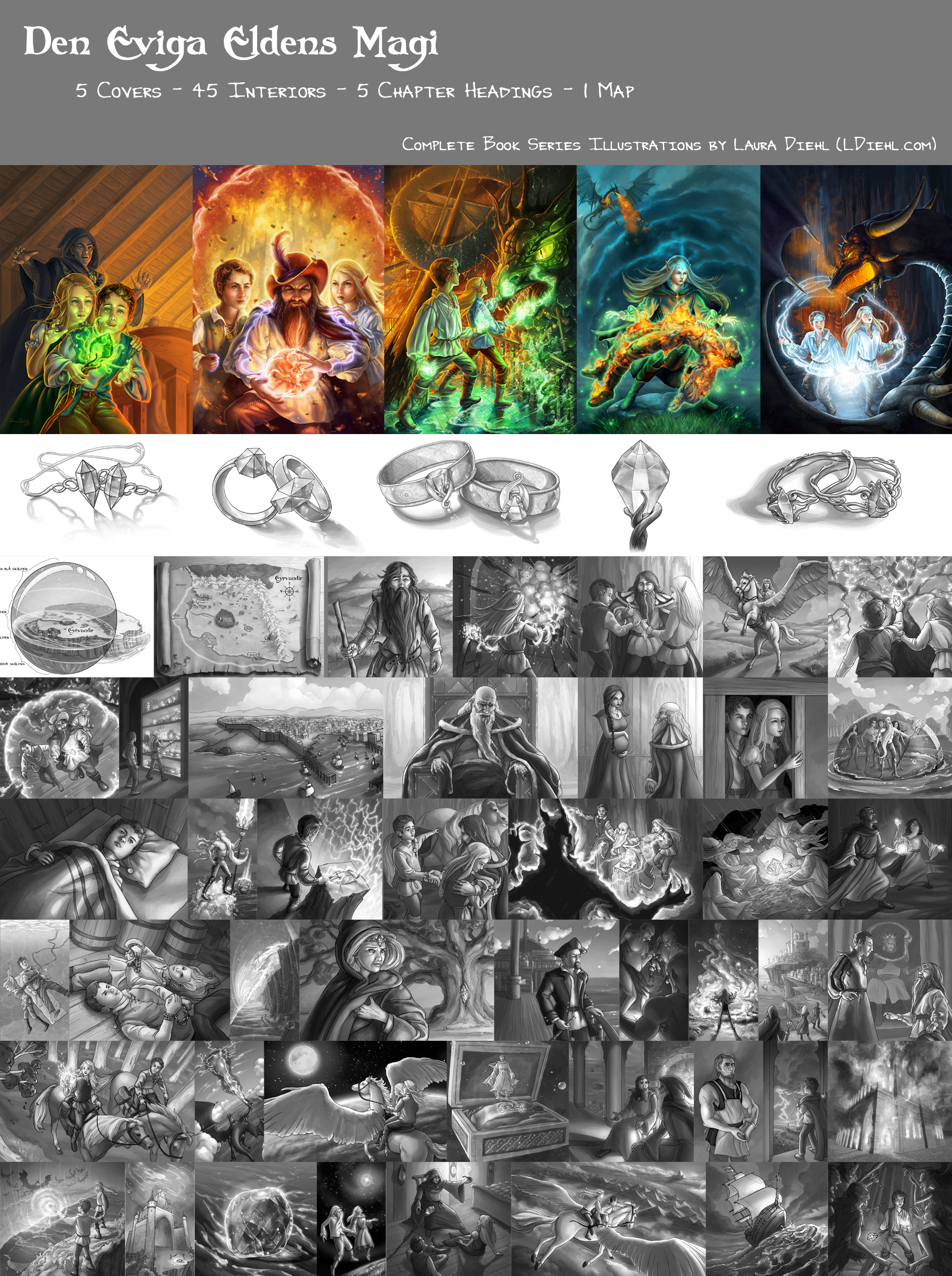 Poster of all images created for series.