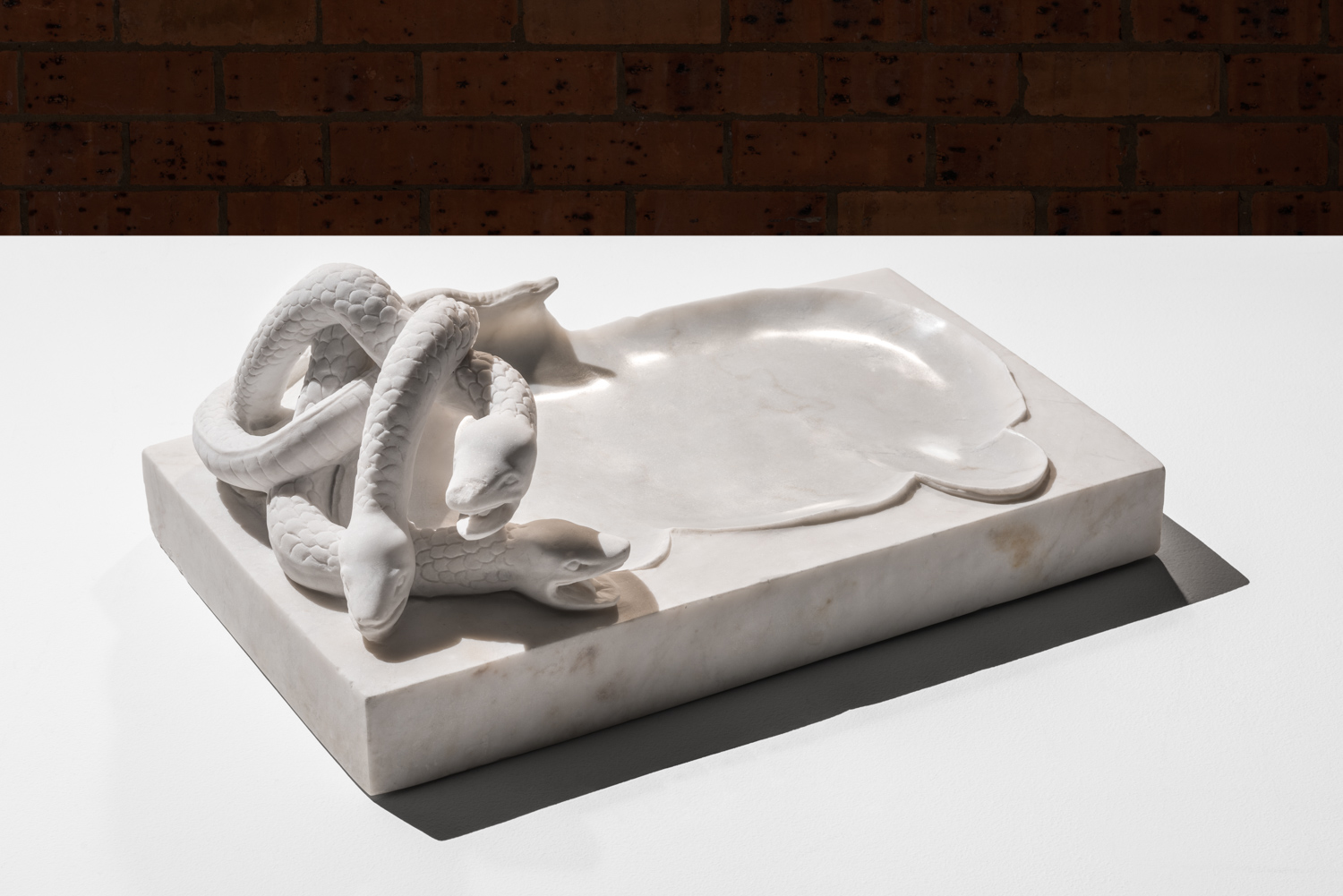 Plinth of the effigy  2016 Imperial white, found object 30 x 37 x 63 cm
