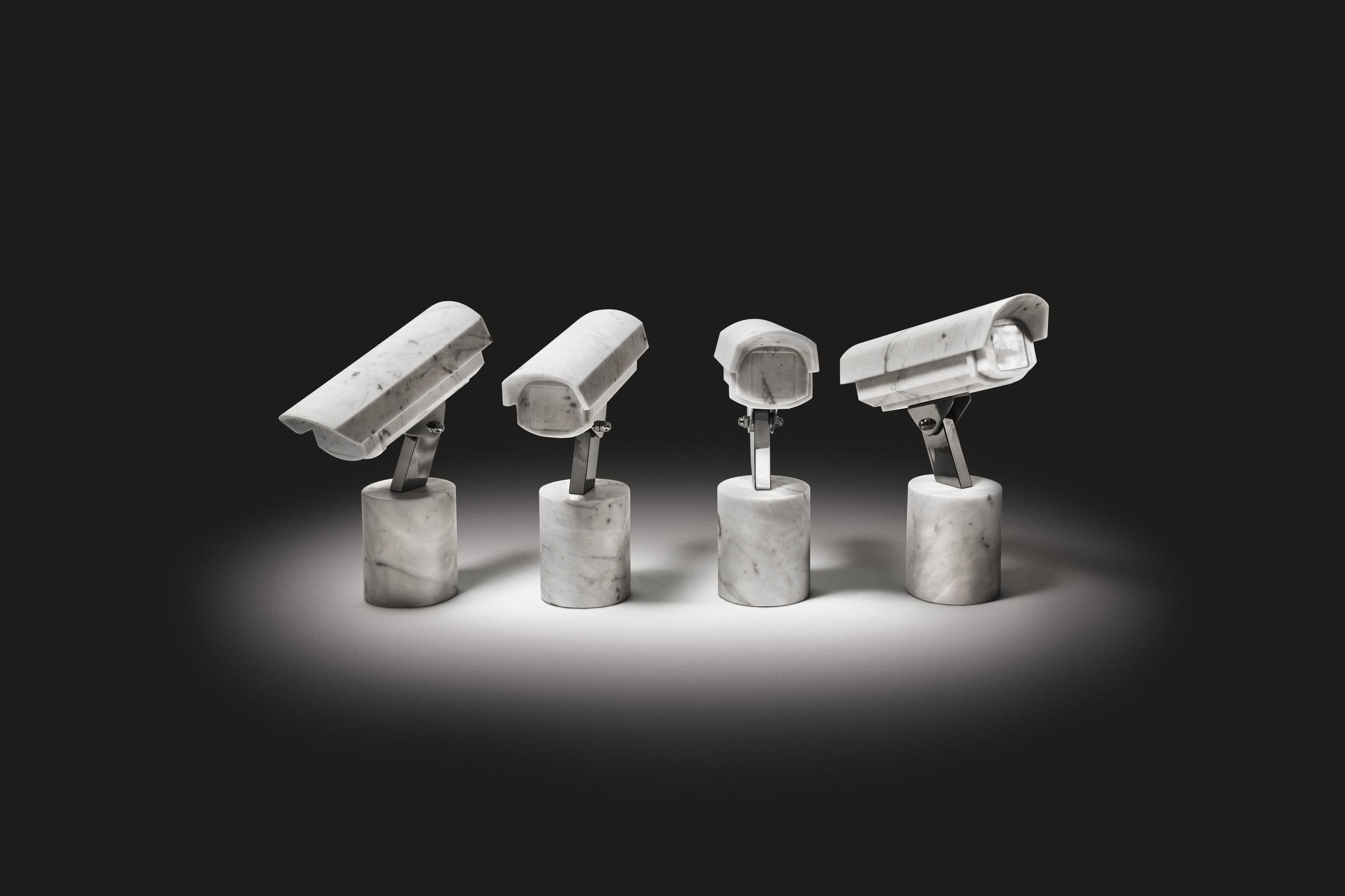 Quartet   2012 Bianco Carrara marble, stainless steel 4 pieces,46 x 15 x 35 cm each