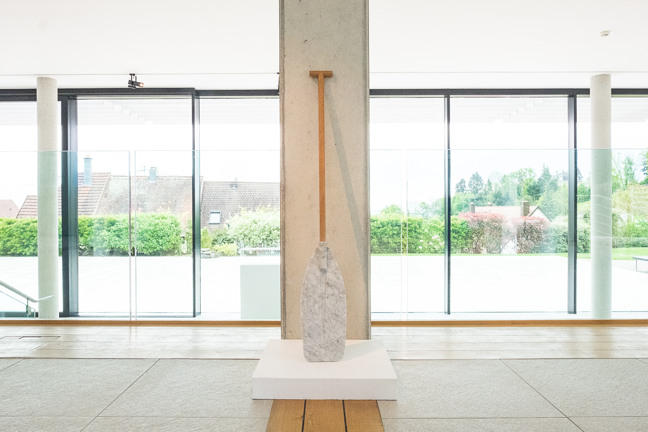 A Paddle  2014 Wood and Bianco marble 100 x 18 x 4cm