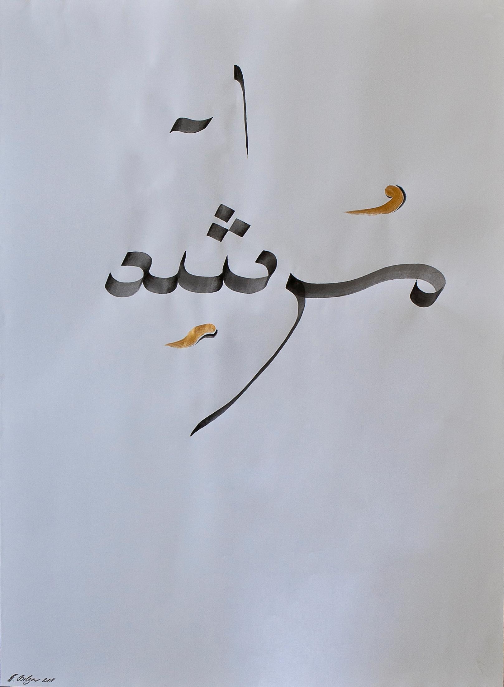 Calligraphic Installation Sheet     92 x 100 cm