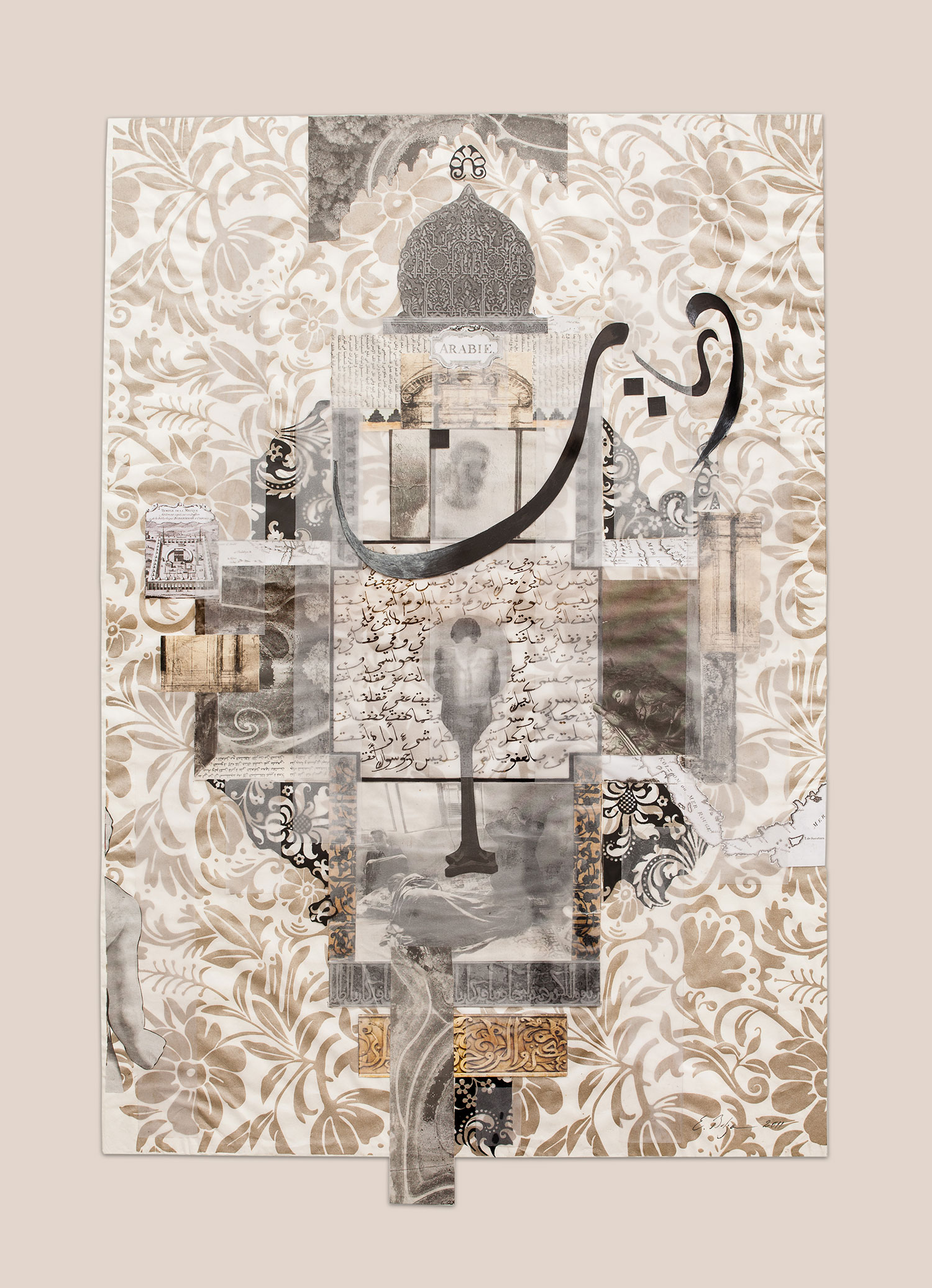 Dream of a Talismanic Shirt  Paper, Indian ink and gesso on paper 82 x 57.5 cm 2010