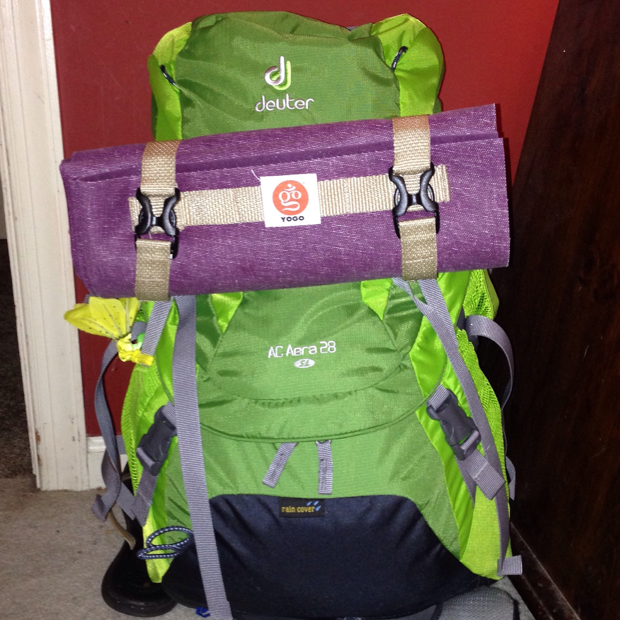 Fully packed with my Yogo travel mat.