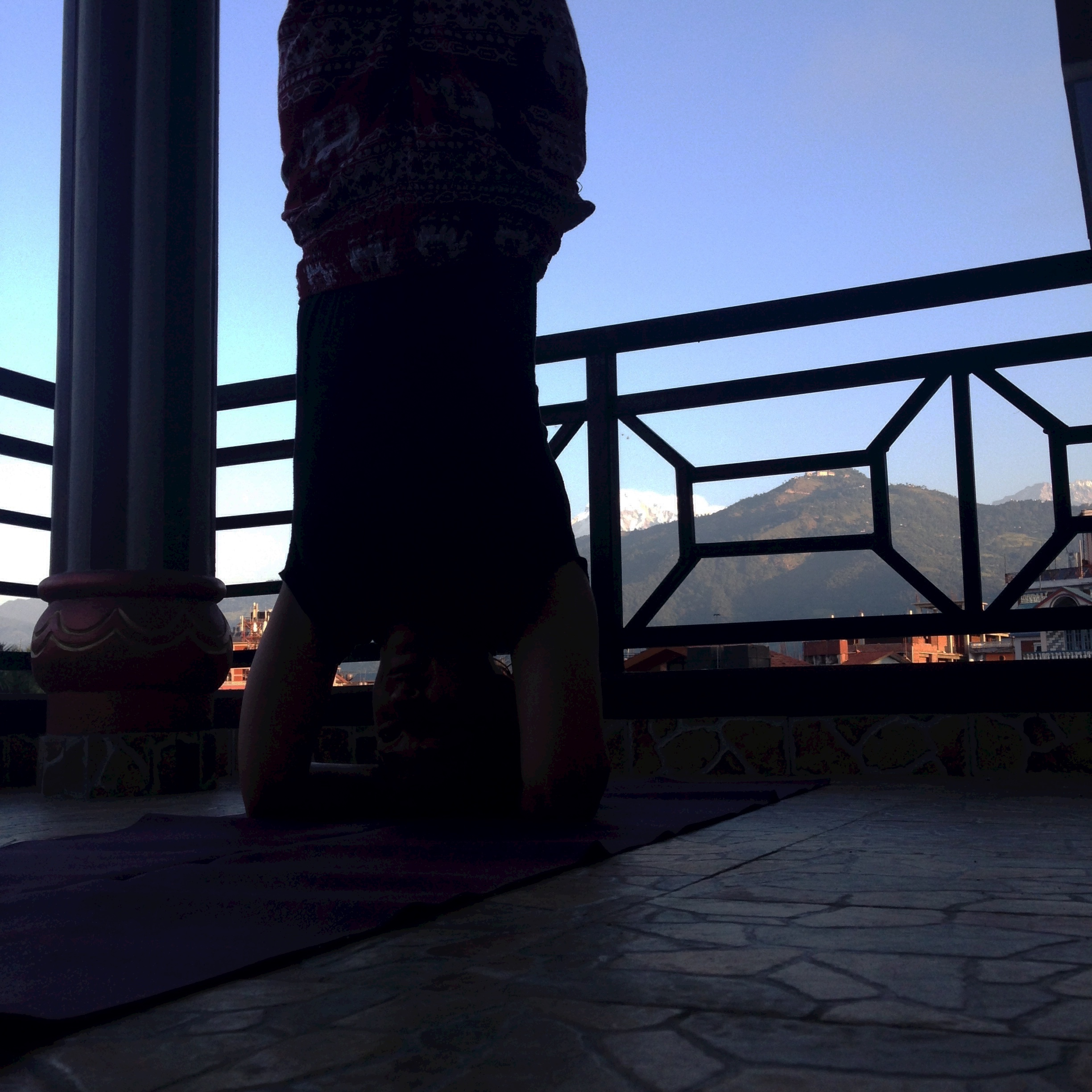 My Yoga Practice in Pokhara, Nepal.