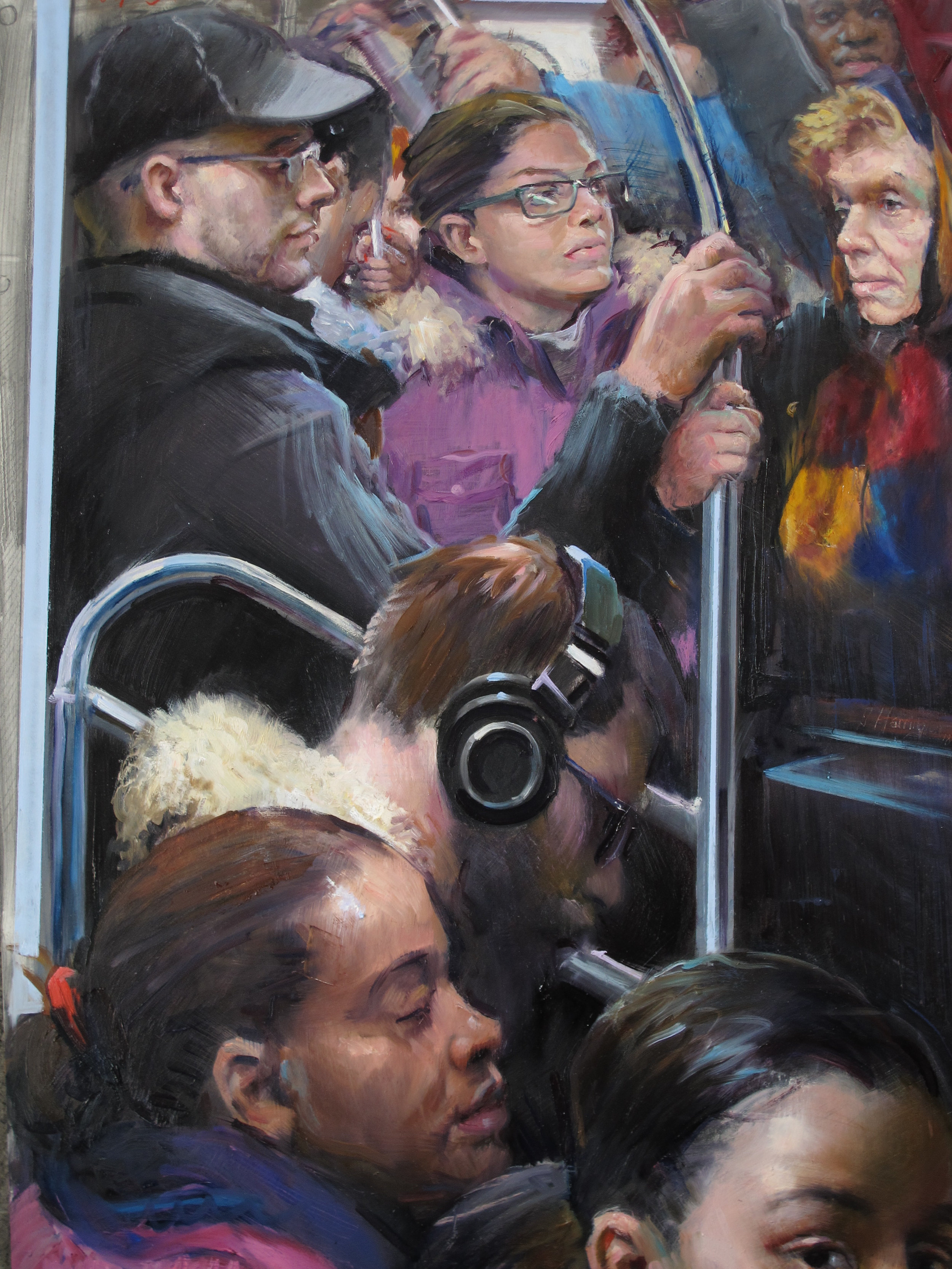 Harrington J. Crowded E Train.jpg