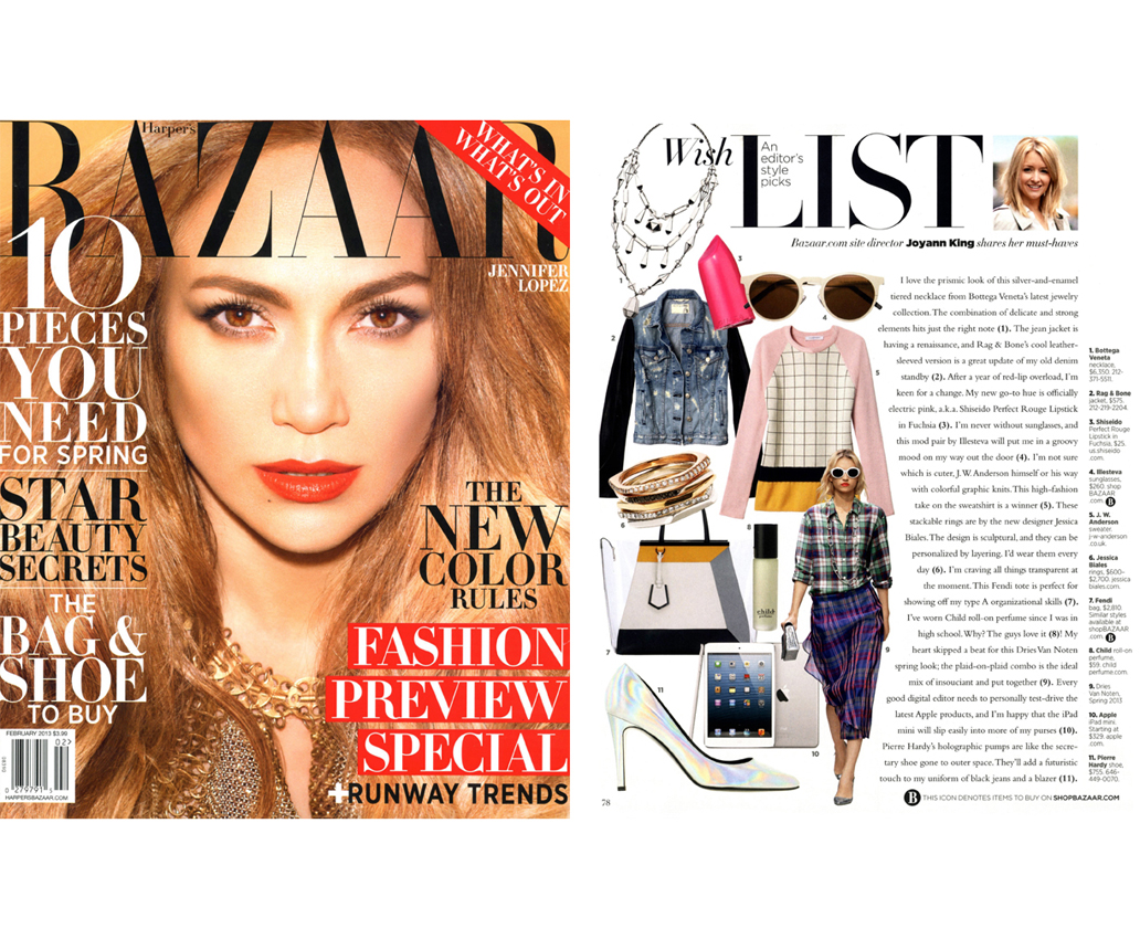 Harper's Bazaar Feb 2013
