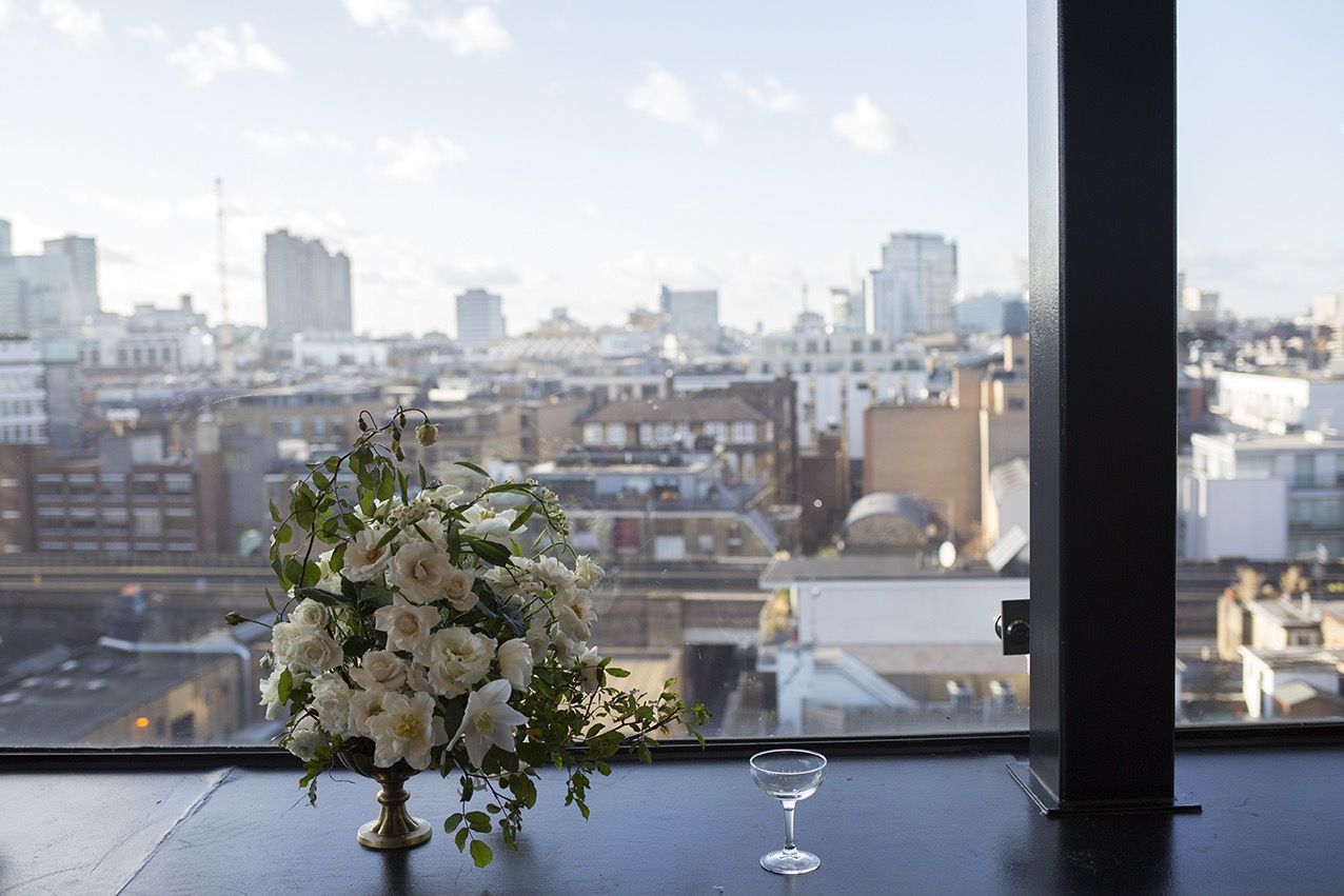 Aesme Flowers London   Wedding Flowers Ace Hotel Shoreditch
