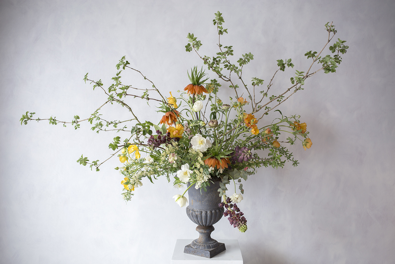 Aesme Flower Studio | Spring Urn Arrangement