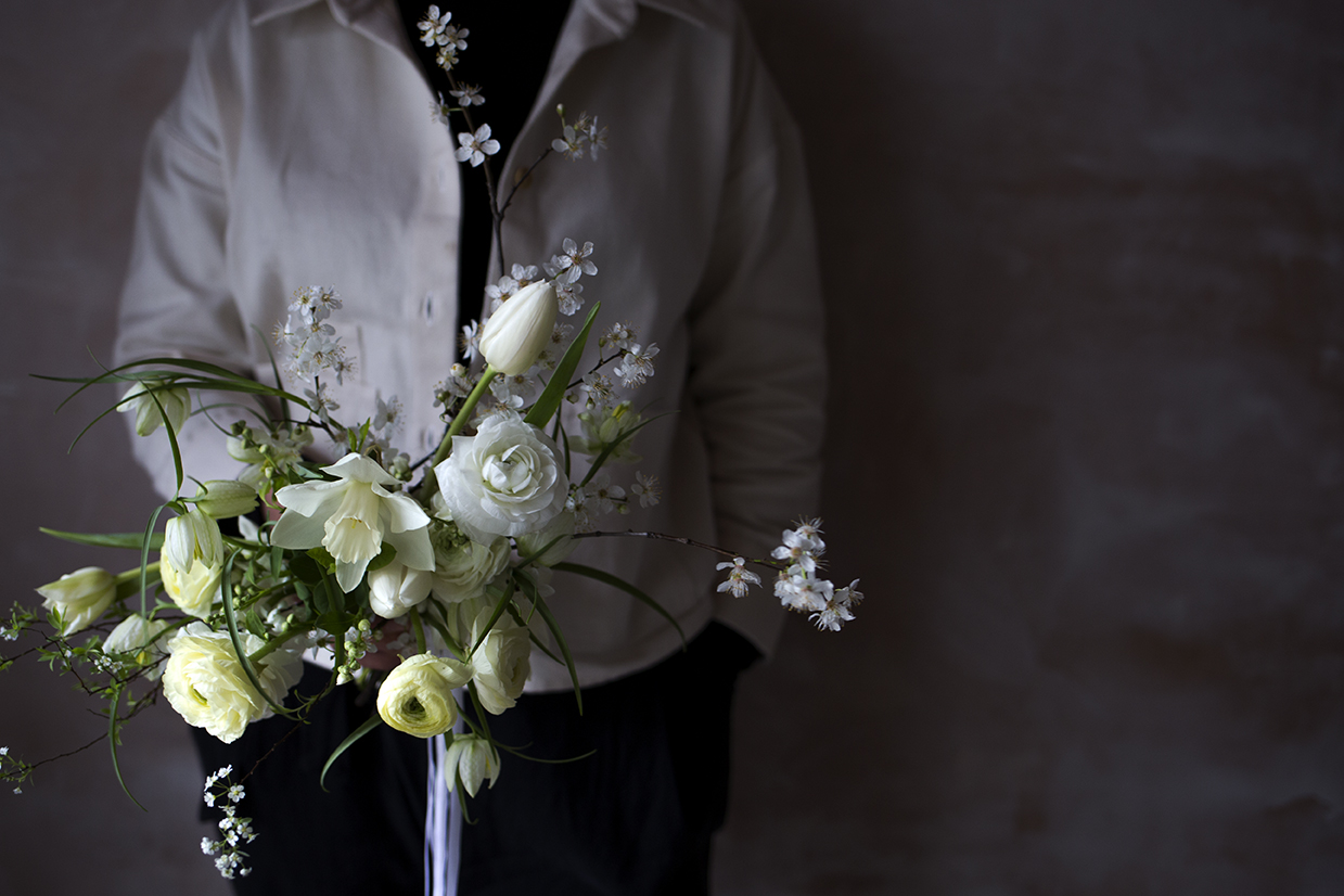 Spring bridal bouquet by Aesme Flower Studio London