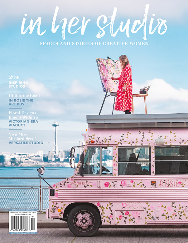 Aesme Flower Studio featured in In Her Studio February 2019