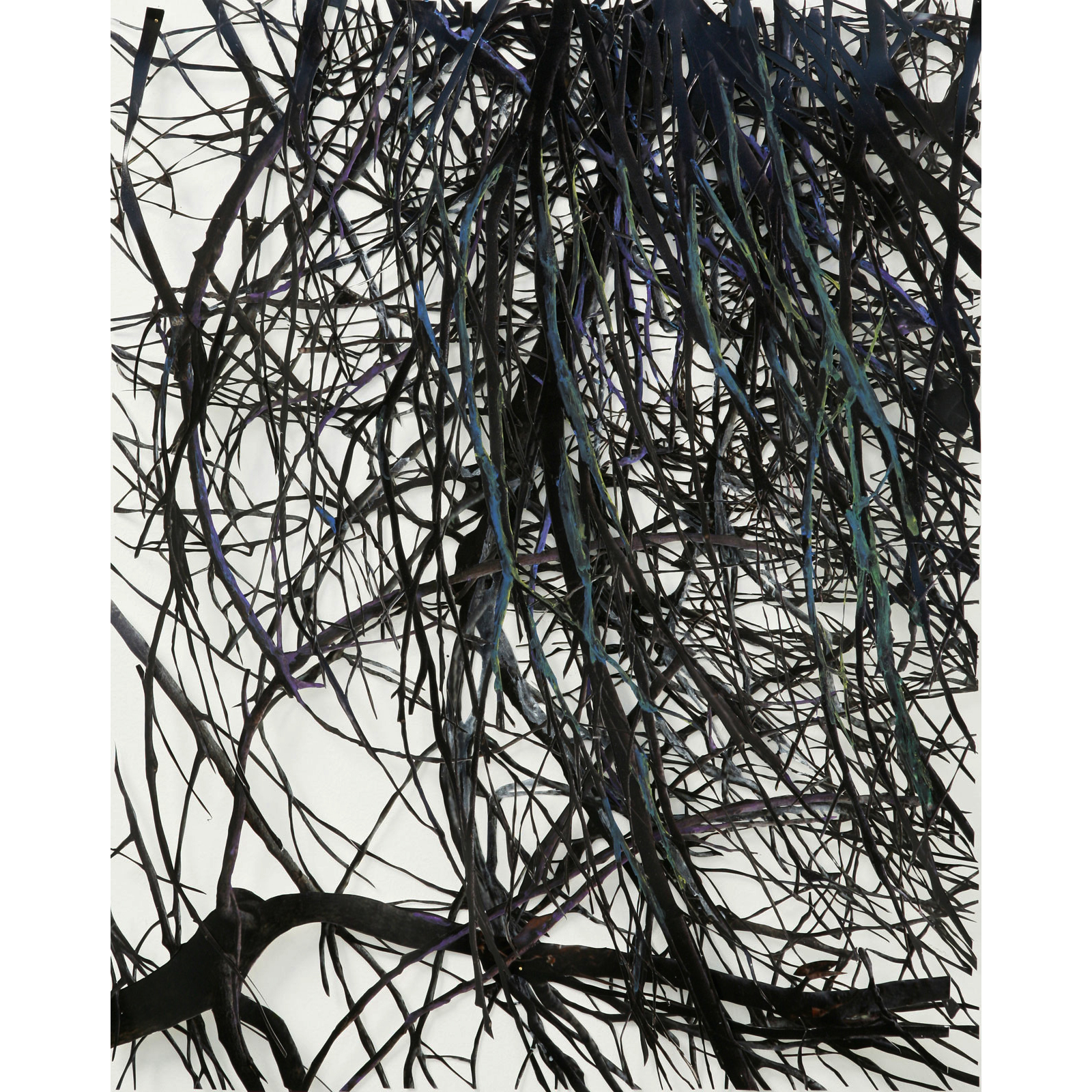 "Strange Lull II,   hand-cut c-prints, collage, colored pencil, 14"" x 11"", 2008."