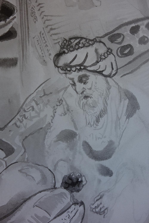 Detail of Foot Smasher (king), 2016