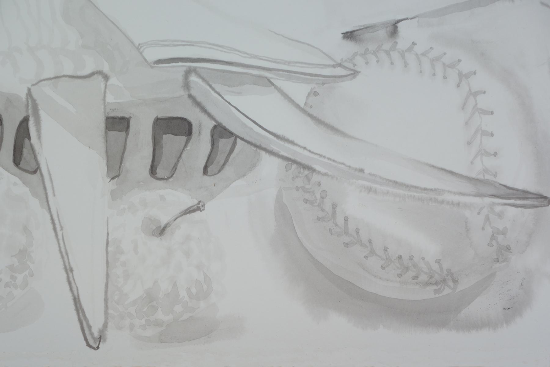 Detail of William Tell, 2016 (baseball)