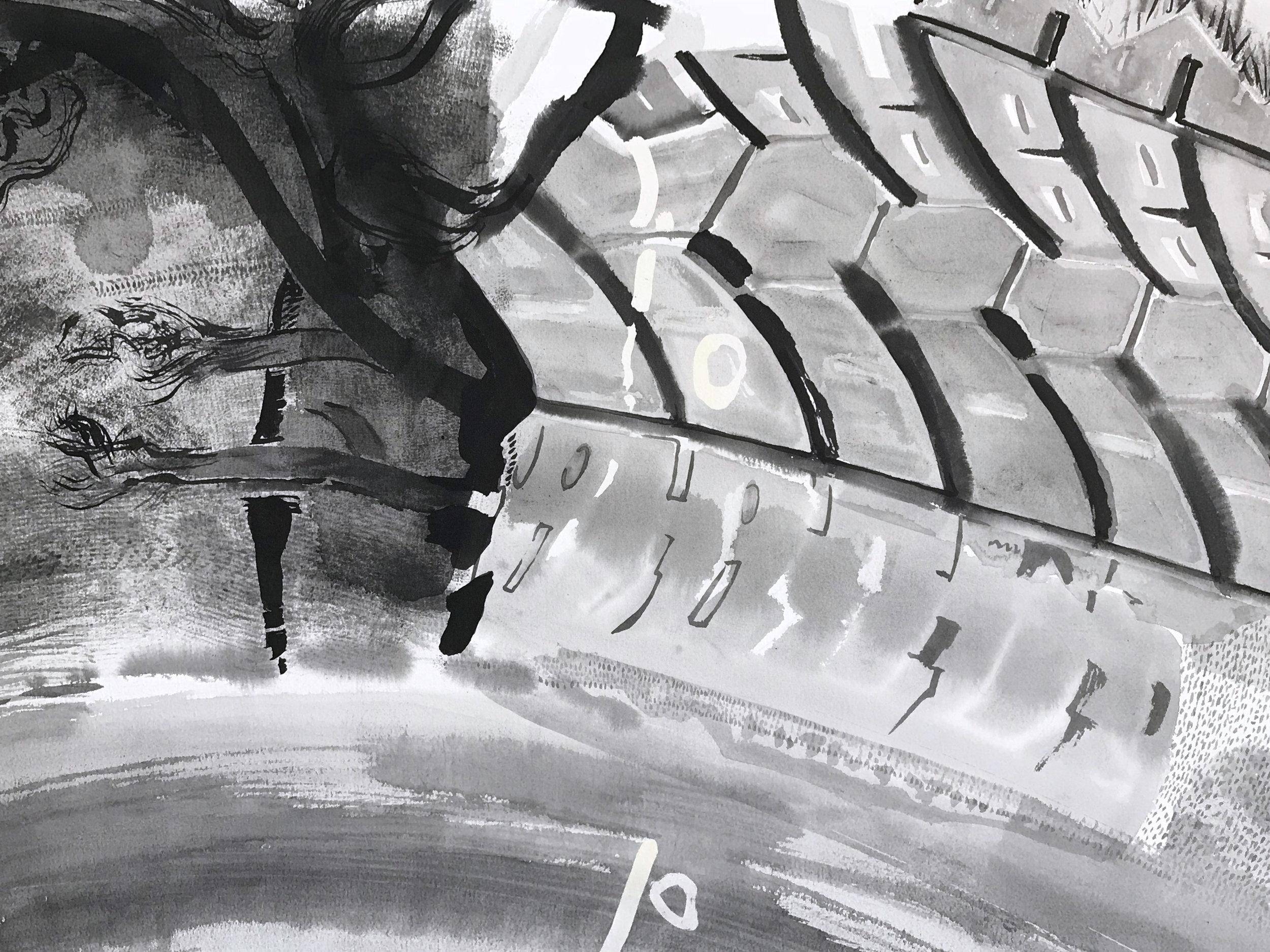 Detail of FUGUE (tire)