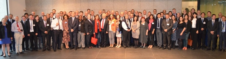 Participants in the IEA meeting on Implementing Agreements. Photo credit:  IEA website .