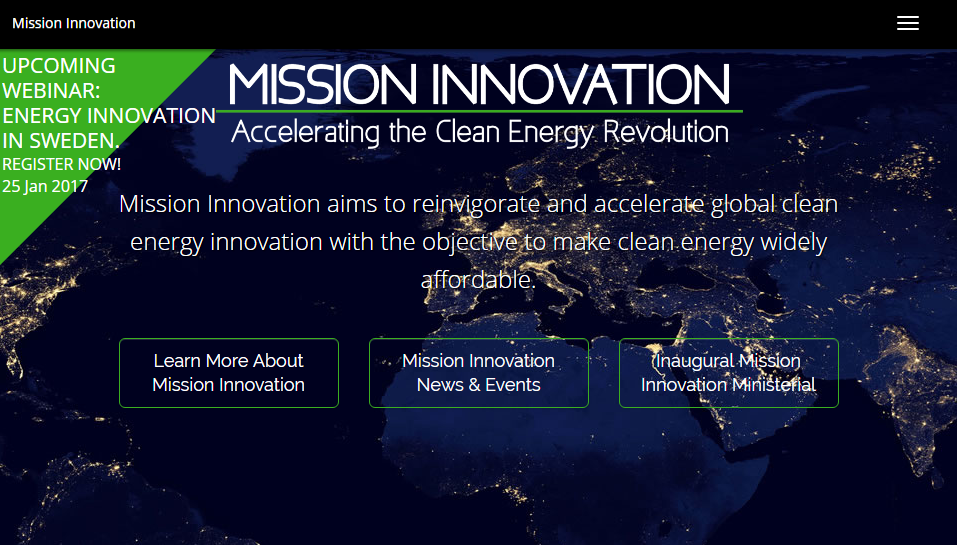 The Mission Innovation website received a 2015–2016 STC award.