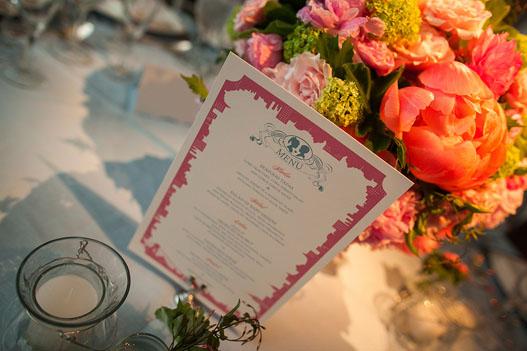 pink-blue-nyc-theme-menu-ny-botanical-garden-wedding