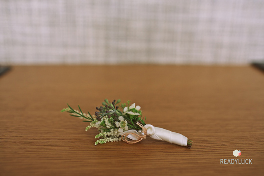 green-herb-boutonniere
