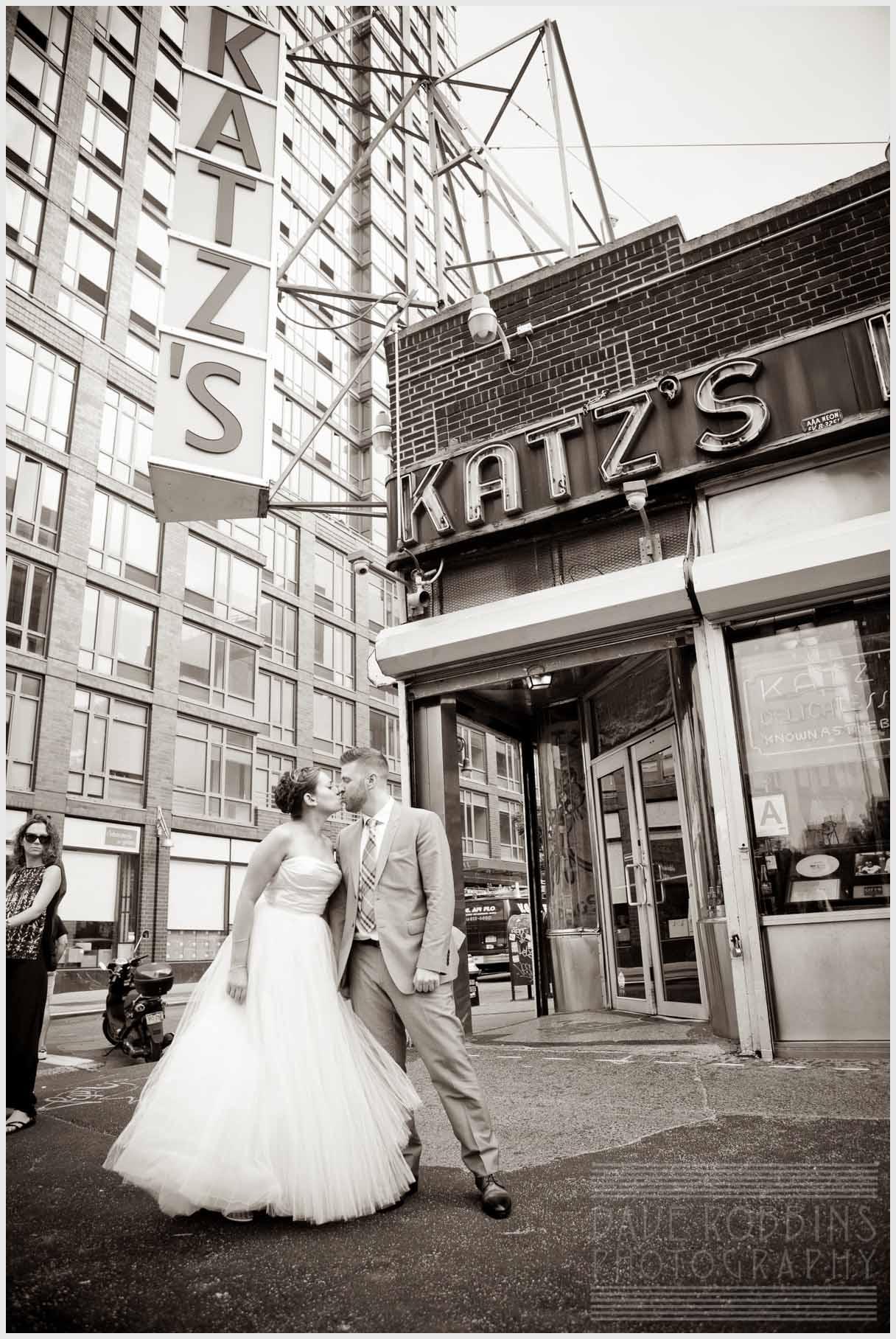 katz-deli-wedding-bride-groom