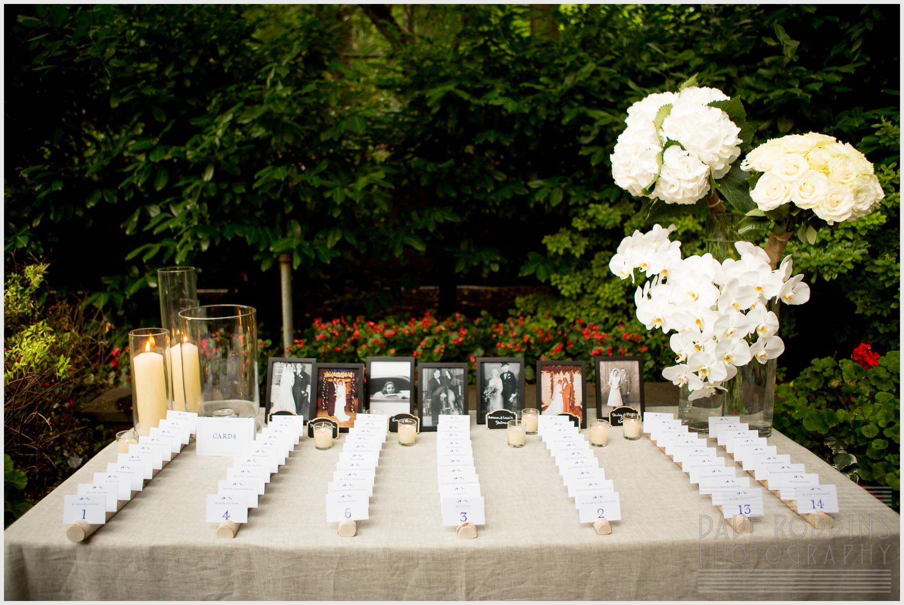 escort-card-display-white-flowers-chic-simple-birch-holders