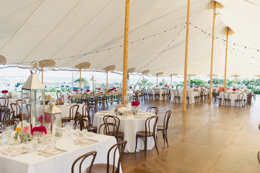sperry-tent-wedding-bentwood-chairs-beach-chic-string-lights-hardwood-floor