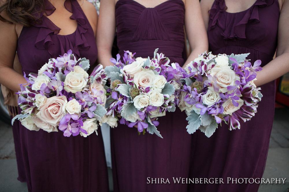 purple-white-bridesmaid-bouquets