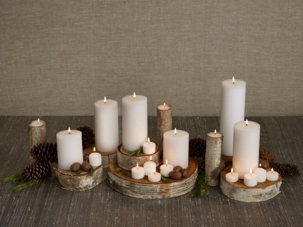 winter-holiday-centerpiece-ideas-candles-wood-elegant